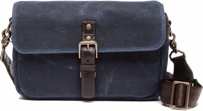 ONA Bowery Camera Bag Waxed Canvas - Navy Blue