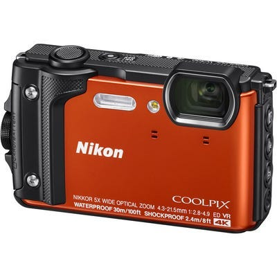 Nikon Coolpix W300 Orange Digital Compact Camera w/BONUS Nikon KeyMission Backpack