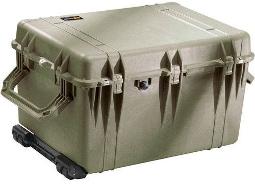 Pelican 1660 Olive Green Case with Padded Dividers