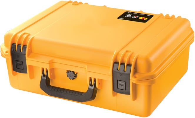 Pelican 140 Yellow Case with Office Divider Lid