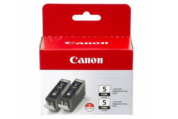 Canon PGI5BK-TWIN Black Ink Tank - 2 Packs