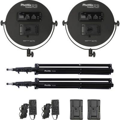 Phottix Nuada R3 Soft Twin Kit - Video LED Light 33cm Round Diameter
