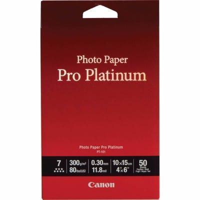 Canon PT1014X6-50 Sheets 4x6 300gsm Photo Paper Pro Platinum