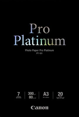 Canon Pro Platinum A3 Photo Paper - 20 pack