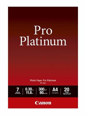 Canon PT101A4 20 Sheets A4 300gsm Photo Paper Pro Platinum