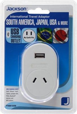 Jackson Outbound USB Travel Adaptor - Japan/USA