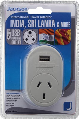 Jackson Outbound USB Travel Adaptor - India