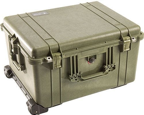 Pelican 1620 Olive Green Case with Padded Dividers