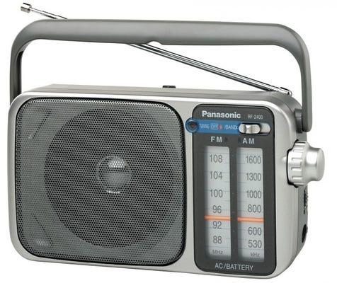 Panasonic RF-2400D Silver AM/FM Radio