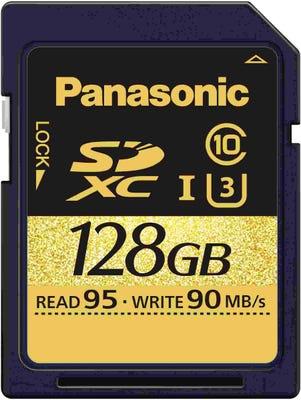 Panasonic 128GB Class 10 UHS1 (U3) SD Memory Card