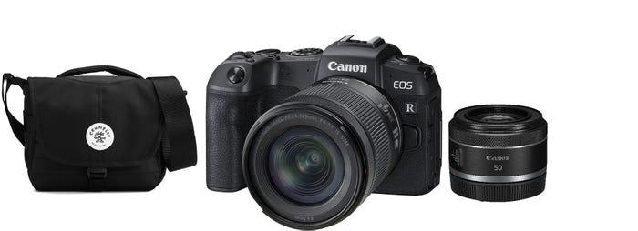 Canon EOS RP Body w/RF 24-105m m f/4-7.1 & RF50mm f/1.8 STM Lens CS Camera w/Crumpler Bag