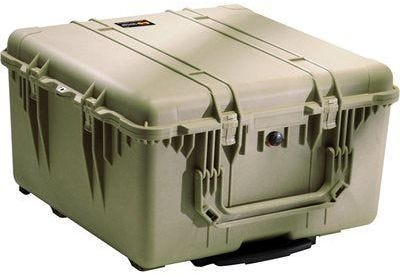Pelican 1640 Olive Green Transport Case with Foam
