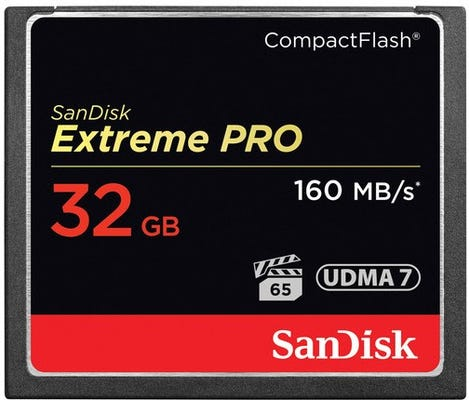 SanDisk Extreme PRO CompactFlash 160MB/s - 32GB Memory Card