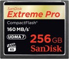 SanDisk Extreme PRO CompactFlash 160MB/s - 256GB Memory Card