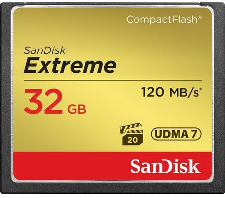 SanDisk Extreme CompactFlash 120MB/s - 32GB Memory Card