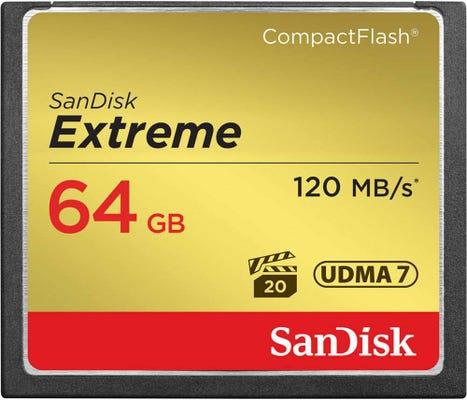 SanDisk Extreme CompactFlash 120MB/s - 64GB Memory Card