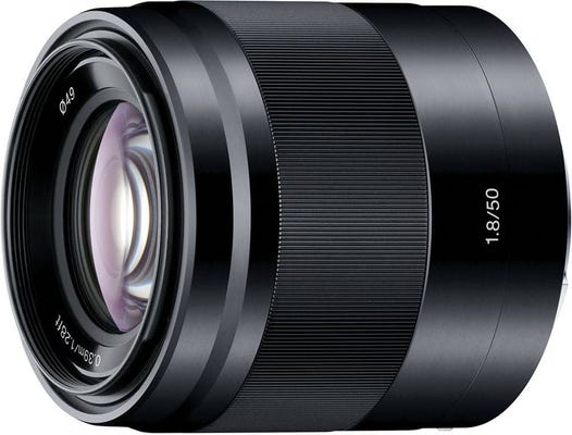 Sony E 50mm f/1.8 Black OSS Portrait Lens