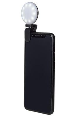 Celly Selfie Light - Black Clip-On Universal LED for Smartphones