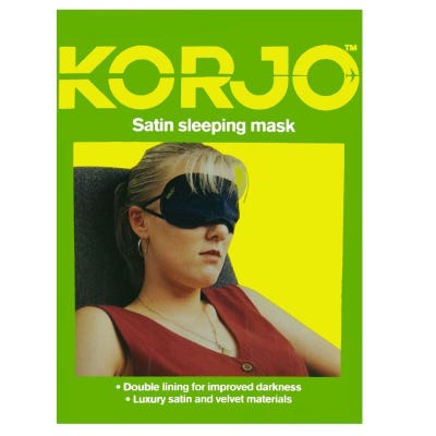 Korjo Sleeping Mask - Satin & Velvet