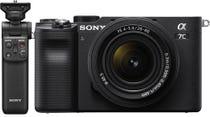 Sony Alpha A7C Black Body w/28-60mm f/4-5.6 Lens & Bluetooth Grip CS Camera