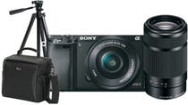 Sony Alpha A6000 Black w/SELP 1650, 55-210mm f/4.5-6.3 Lens, Bonus Bag & Tripod CS Camera