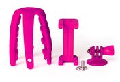 Celly Squiddy Flexible Mini Tripod - Pink inc Smartphone & GoPro Adapter