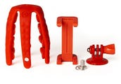 Celly Squiddy Flexible Mini Tripod - Red inc Smartphone & GoPro Adapter