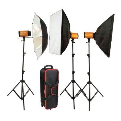 Glanz SDi250 3 Head Studio Lighting kit