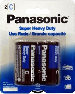 Panasonic C Size 2 Pack Extra Heavy Duty Alkaline Battery