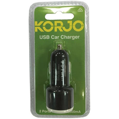 Korjo 2 Port In-Car Charger
