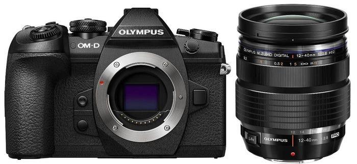 Olympus OM-D E-M1 Mark II Black w/12-40mm f/2.8 Black Lens Compact System Camera