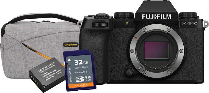 FujiFilm X-S10 Body - Black BONUS Bag, Battery & 32GB Card