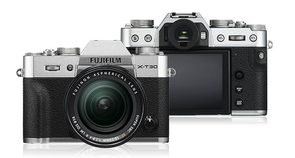 FujiFilm X-T30 Body - Silver w/ XF18-55mm Lens Compact System Camera