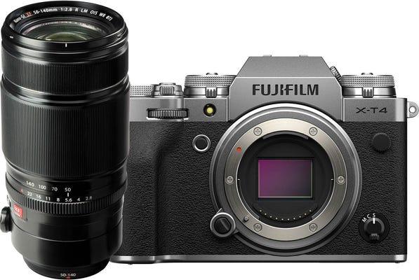 Fujifilm X-T4 Body Silver w/ XF 50-140mmF2.8 R LM OIS WR Lens