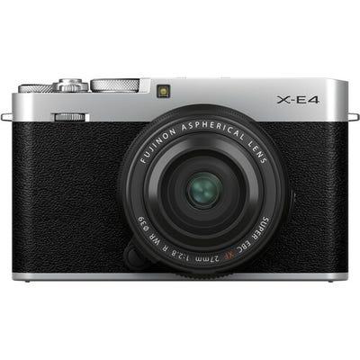 Fujifilm X-E4 Silver Body w/ XF 27mm F2.8 R WR Lens Compact System Camera