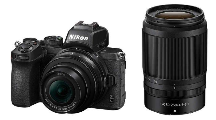 Nikon Z 50 w/Nikkor Z DX 16-50 mm f3.5-6.3 VR + 50-250mm f4.5 -6.3 VR Mirrorless Camera