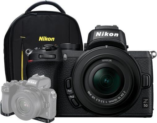Nikon Z 50 w/Nikkor Z DX 16-50 mm VR Lens,Smallrig LCN2525 & Backpack Mirrorless Camera