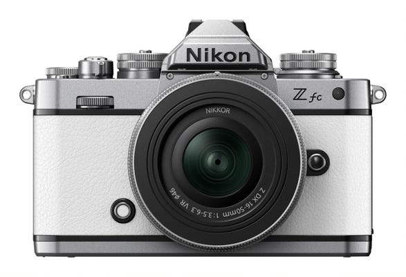 Nikon Z fc Body White w/Nikkor Z DX 16-50mm VR Lens SL Mirrorless Camera